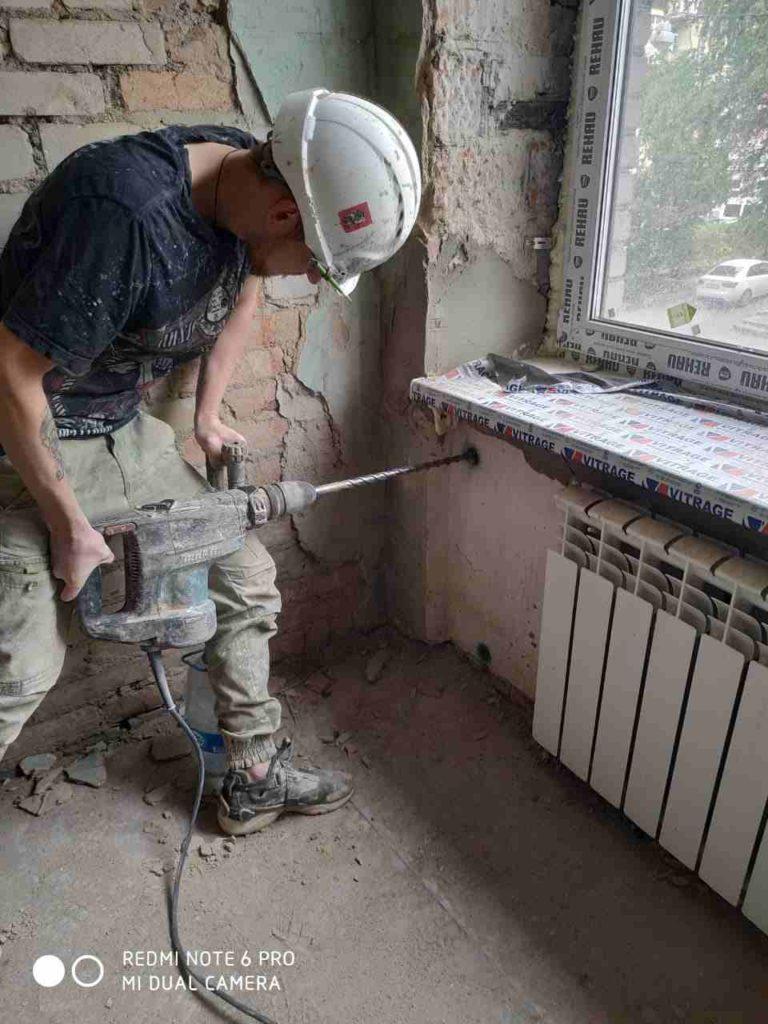 инъектирование трещин работы