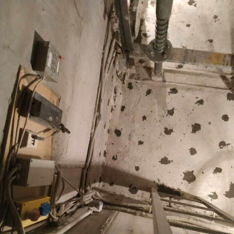 сухая шахта лифта