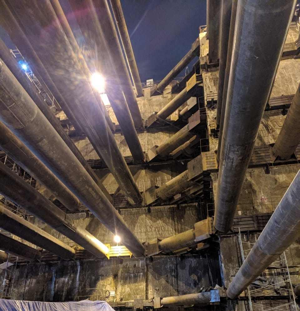 Инъектирование котлована в метро