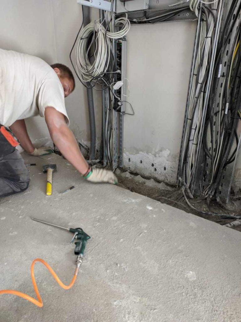 Инъектирование холодных швов бетона